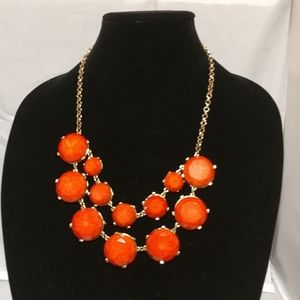 Natasha couture orange statement necklace